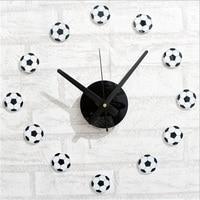 Fashion Creative DIY Football Self Adhesive Wall Clock