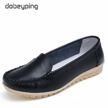 Shoes Woman Women's Loafers Plus-Size Slip On Genuine-Leather Casual 35-42 Dobeyping