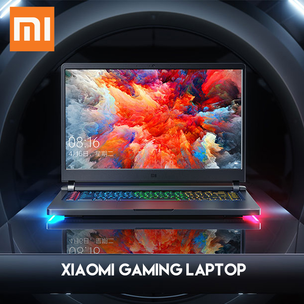 Original Xiaomi Mi Gaming Laptop Windows 10 Intel Core i7 8750H 16GB RAM 128GB SSD 1TB HDD HDMI Notebook Type C Bluetooth