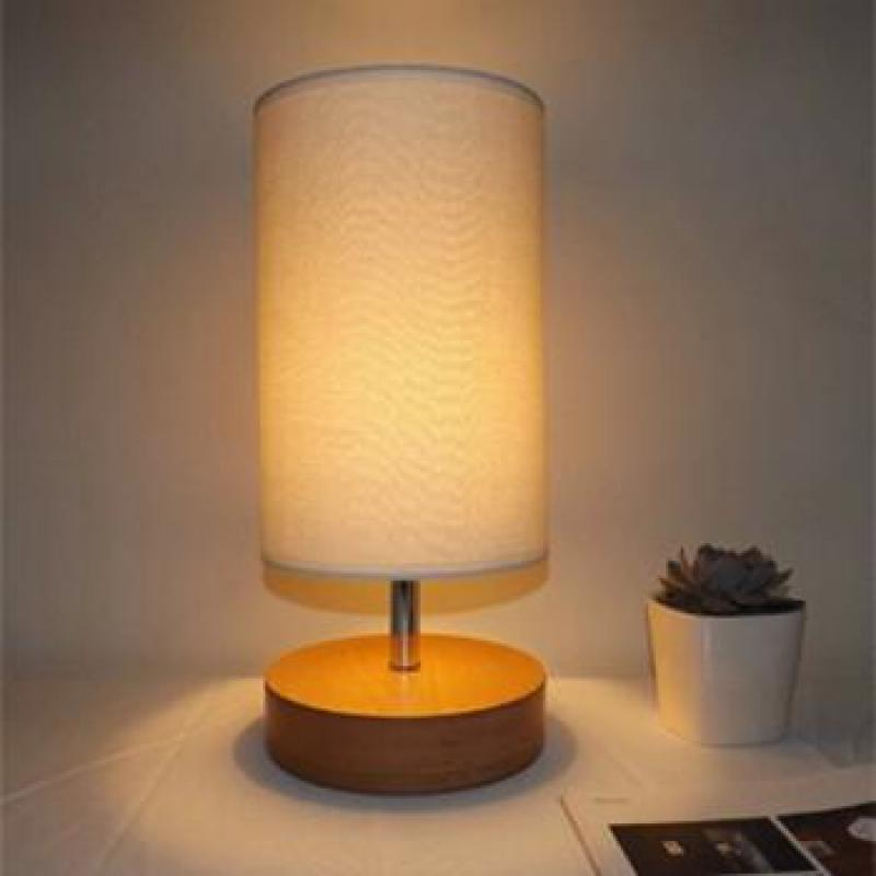 New Modern Brief Chinese Style Original Wood&fabric Led E27 Table Lamp For Bedroom Bedside Living Room Ac 80-265v Dy-1430 modern creative fashion wood fabric led e27 floor lamp for living room bedroom hotel guest room deco light ac 80 265v 1010