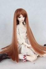 1/3 1/4 1/6 BJD doll wig Qi Liu hot wire straight hair tricolor 1/3 1/4 1/6