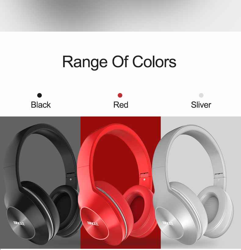 Bingle Q5 Comfortable Fit Stereo Noise Cancelling Wireless Bluetooth  Headsets Computer Mobile Phone Headphones Fone De Ouvido