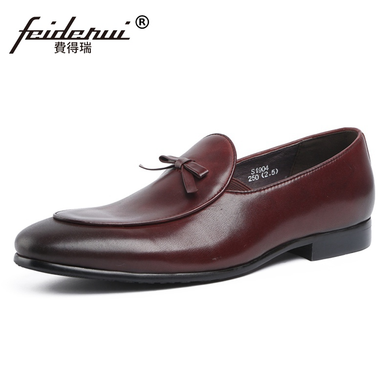 New Classic Round Toe Man Moccasin Shoes Genuine Leather Slip on Casual Loafers Handmade Men's Comfortable Office Footwear JS280