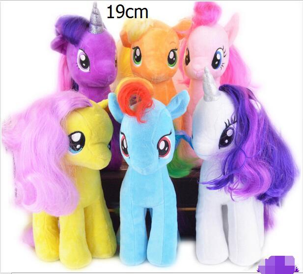 US $3 23 15% OFF| Minecraft toys 18CM 6 Colors 2016 Fresh Plush Unicorn  Horse Stuffed Animals Toys Baby Infant Girls Toys Birthday Gift Rainbow -in