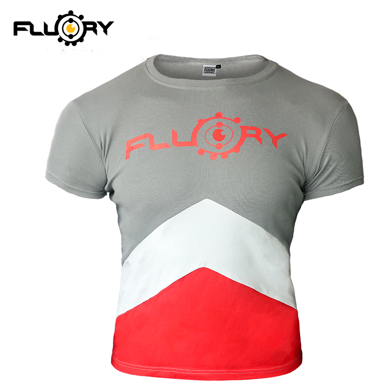 Fluory Boxing MMA T Shirt Gym Tee Shirt  Fighting Martial Arts Fitness Training Muay Thai T Shirt