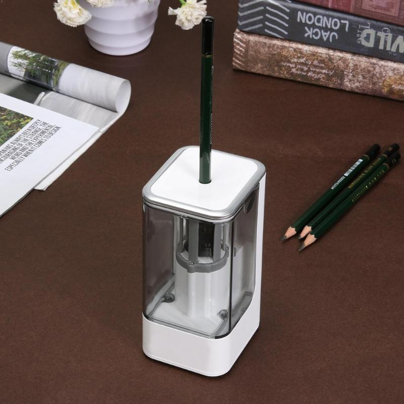 Electric Pencil Sharpener High Quality Automatic Electronic And One Hole Plug In Use Safety For Kids Stationery Supplies