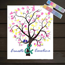 цены Festival Personalize Wedding Souvenirs Guest Book DIY Fingerprint Tree Signature Canvas Painting Romantic Decor Wedding Party