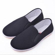 Китайская обувь для кунг-фу; Черная хлопковая обувь в винтажном стиле; тапочки с крыльями Chun Tai Chi; обувь для боевого искусства из чистого хлопка; обувь для ушу