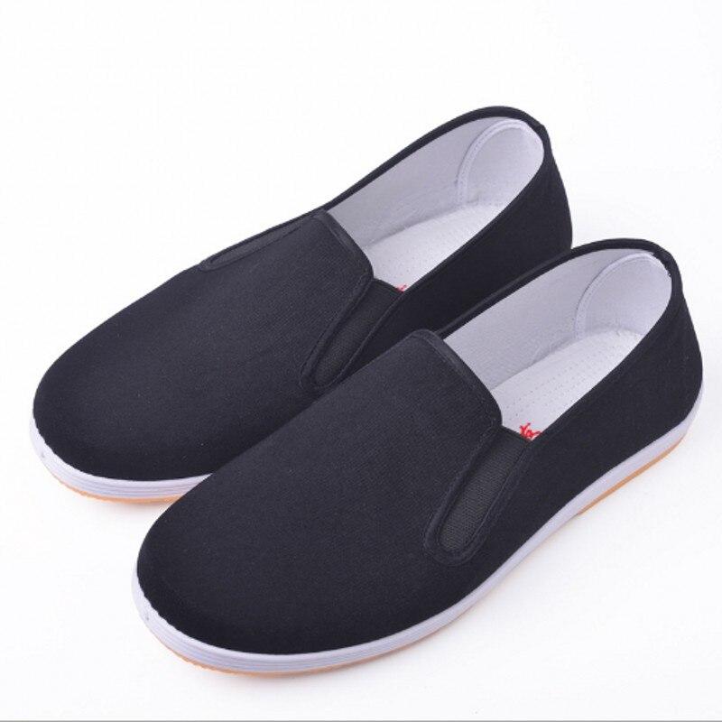 Chinese Kung Fu Shoes Black Cotton Shoes Vintage  Wing Chun Tai Chi Slipper Martial Art Pure Cotton Shoes Wushu Shoes