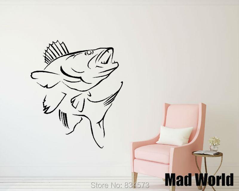 mad world koi carp pond fish chinese coi animal wall art stickers