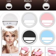 Мобильный телефон селфи кольцо светильник светодиодный фотографический светильник ing для Xiaomi iPhone Sumsang смартфон