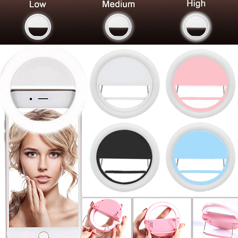 Mobile Phone Selfie Ring Light LED Photographic Lighting For Xiaomi IPhone Sumsang Smartphone