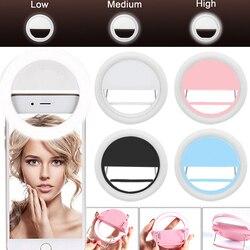 Teléfono Móvil Selfie anillo Luz LED iluminación fotográfica para Xiaomi iPhone Samsung Smartphone