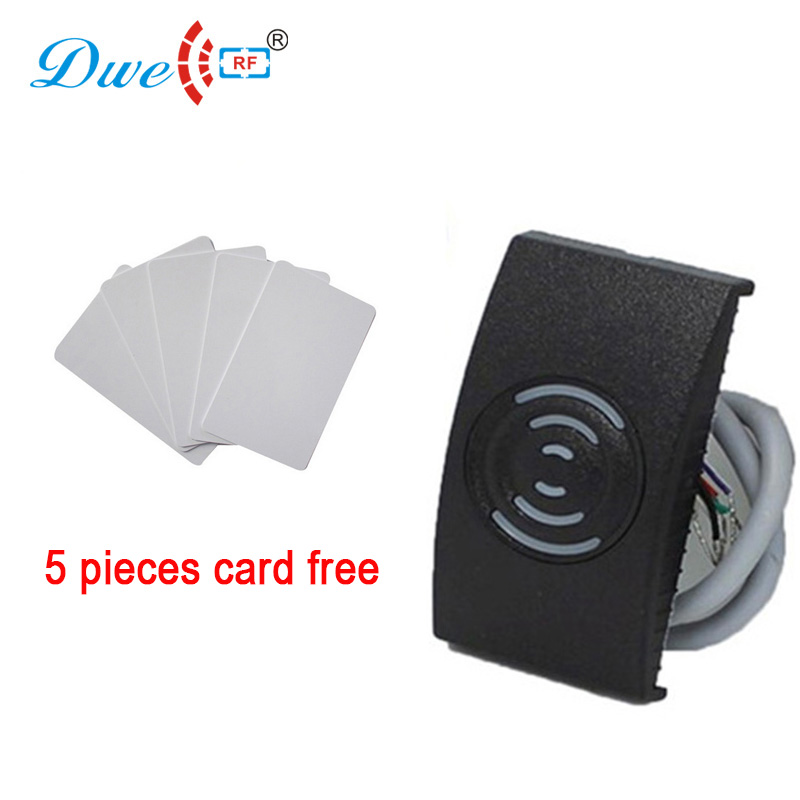 Proximity 12V water proof rfid tag reader ID wiegand 26 IC weigand 34 card reader for door control outdoor mf 13 56mhz weigand 26 door access control rfid card reader with two led lights
