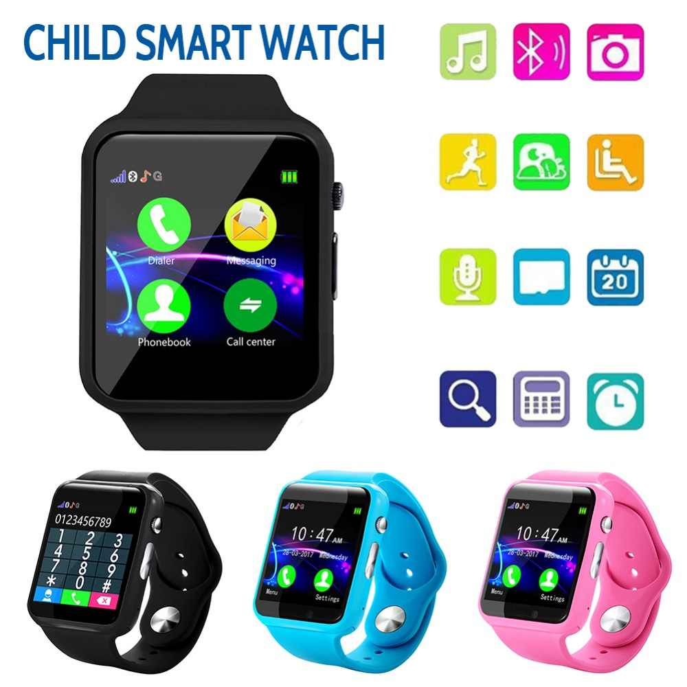 Smart Watch For Kids Watch Phone Waterproof Bluetooth Watches For Children Boys Girls Anti-lost GPS Tracker Watch Android iOS