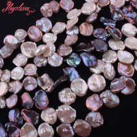 12 15mm Natural Freshwater Pearl Baroque Stone Beads Strand 14 5 For DIY Necklace Bracelets Fashion