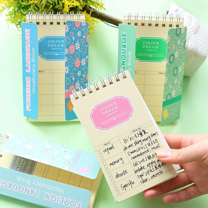 Руководство барьер Южная Корея канцелярские и свежий цветок язык изучения английского словаря памяти Эта катушка эта маленькая книга