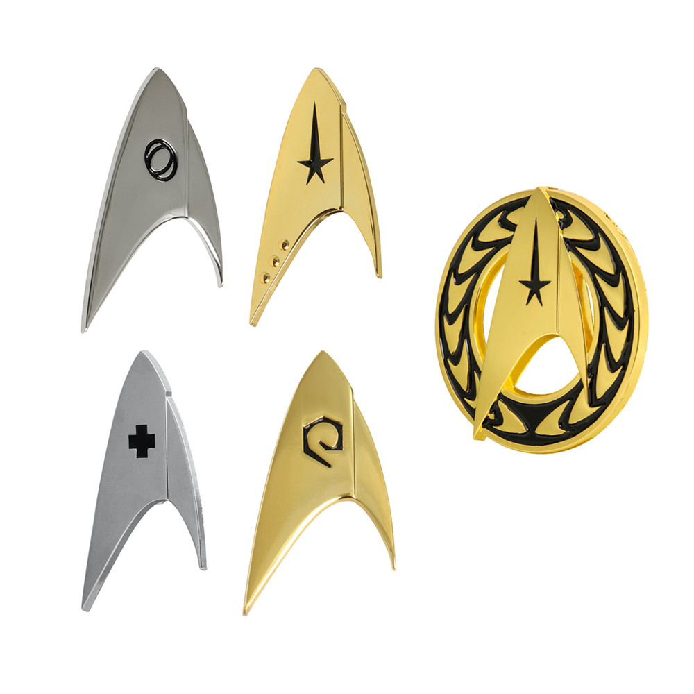 5 Types For Star Trek Discovery Cosplay Commander Badge Starfleet Costume Brooches Halloween Uniform Pin Accessories Props Gift