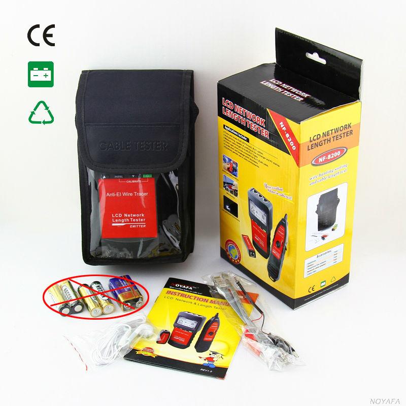 NF_8200 LCD LAN testeur réseau téléphone câble testeur RJ45 câble testeur Ethernet câble Tracker NOYAFA NF-8200 - 5