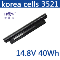 HSW laptop battery 14.8V 40WH For DELL For INSPIRON 17R 5721 17 3721 15R 5521 15 3521 14R 5421 14 3421 VOSTRO 2521 2421 battery