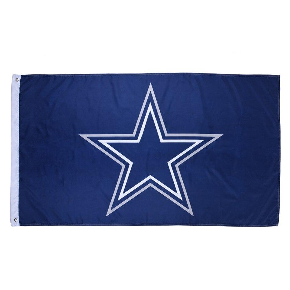 1 unids Dallas Cowboys equipo de los EEUU alta calidad americana Dallas Cowboys bandera tamaño 90*150 cm/ 3*5 pies envío de la gota