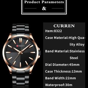 Image 5 - Men Watches 2019 Luxury Brand Stainless Steel Fashion Business Mens Watch CURREN Wristwatch Man Clock Waterproof 30 M Relojes