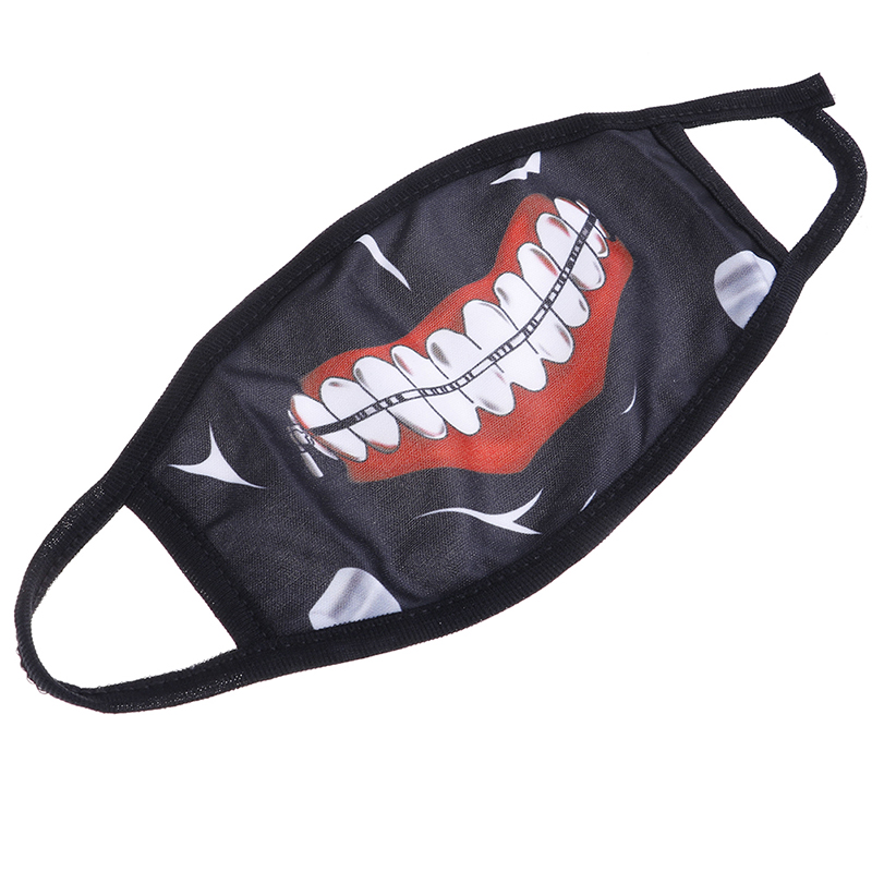 1pcs Anime Emotiction Mouth-muffle Anti-dust Cotton Face Mask