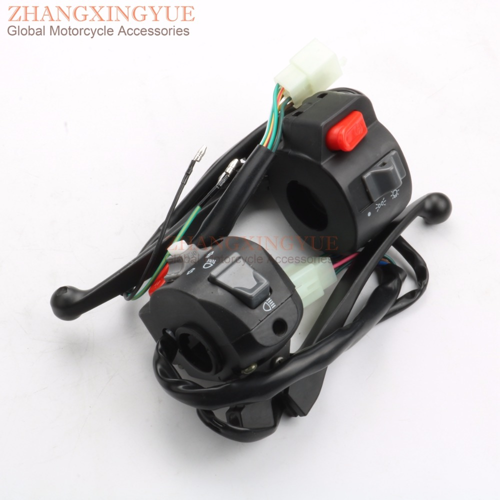 Left Right Side Alloy Handle Switch Control Set For GY6 50 100 125cc 150cc BWS Moped Scooters ATV
