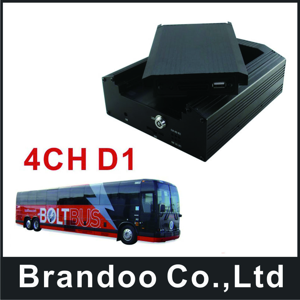 Russia trainning car used 4 channel mobile DVR, low cost MDVR, HDD memory used, model BD-335