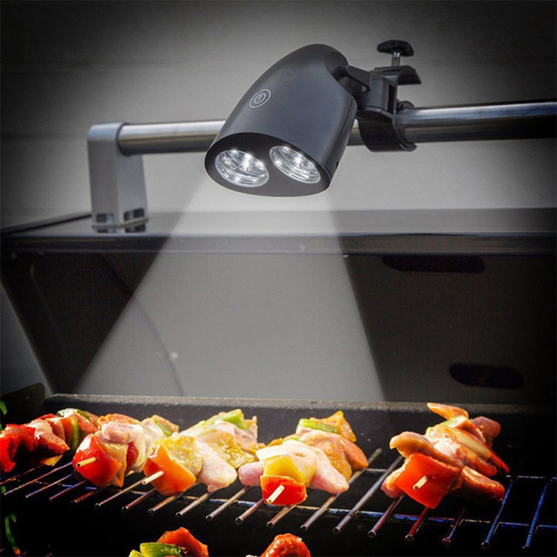 1pcs Black BBQ Touch Sensitive Switch Grill Light High Quality 10 Bright LED Kitchen Barbecue Light Outdoor Night Light