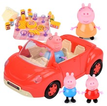Peppa Pig Anime Figure Doll Car Toy Picnic Sports Car Peggy Family Action Figures Birthday Gift Toys for Children Gift sylvanian family of rabbit bunny baby cradle carry bag mini figure anime cartoon figures toys child toys gift animal doll