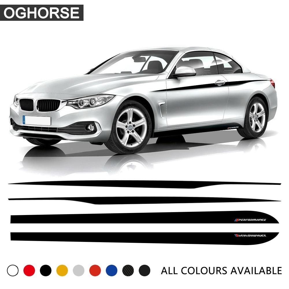 BMW M Performance Side Stripes decals Set for M4 F30//F31//F32//F33//F35//F36