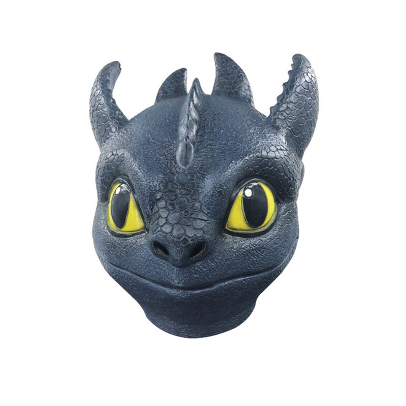 Adult Latex Full Head How To Train Your Dragon 3 Night Fury Mask Costumes Cosplay For Funny Carnival Halloween Party Costume