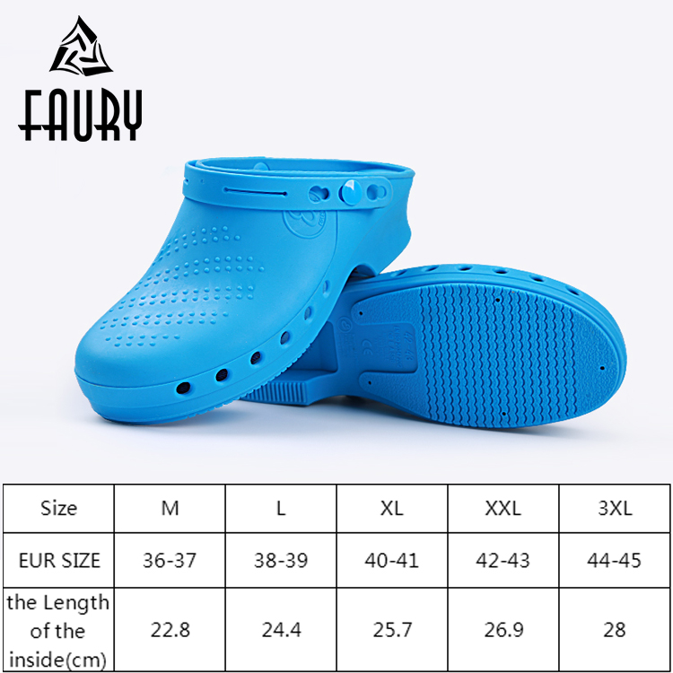 TPE Non-slip Acid Alkali Resistant Protective Shoes For Hospital Doctor Surgical Shoes Nurse Work Footwear Summer Lab Slippers