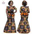 2017 Ropa de Mujer de Marca Africano Africano Vestido 6XL ropa tradicional africana Cera 2 unidades para Las Mujeres Falda Conjunto BRW WY864