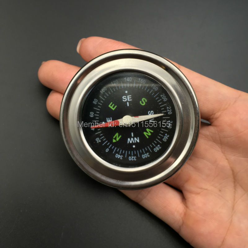 Hot sale Stainless steel portable compass Navigation tools outdoor tourism navigation tools Camping accessories silver Dia33mm  цены