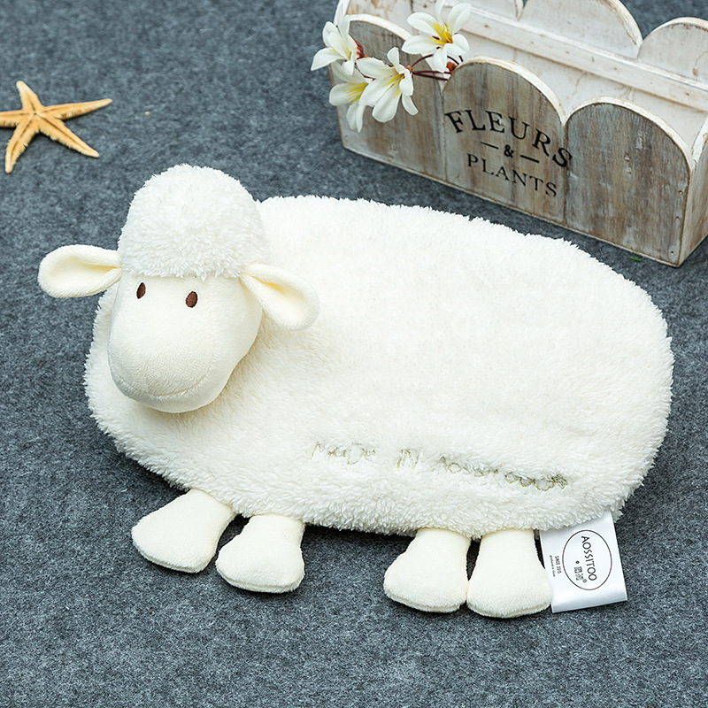 Creative Hot Water Bag Winter Hand Warmer Charging Electric Hot-water Bag Plush Animal Hot Water Bottle With Cover Hand Po Bags hot