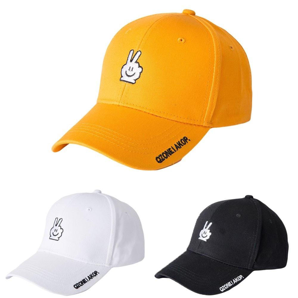 2018 Women Men Adjustable Letter Smiley Gestures Casual Embroidery Baseball Simple Mesh Cap Hat