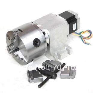 K11 80 MM mandril de $ number mordazas CNC Router de Rotación Del Eje Del cuarto eje A eje para la velocidad de la máquina de grabado reduciendo relación 50: 1/100: 1