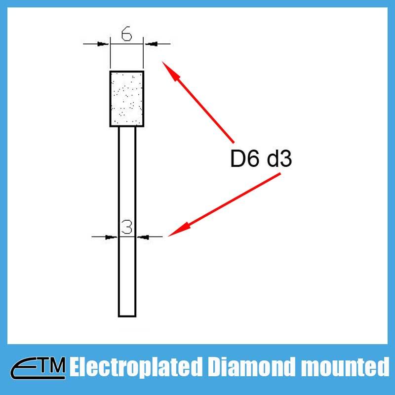 Mola a punta diamantata elettrolitica per intaglio e sbavatura di - Utensili abrasivi - Fotografia 5