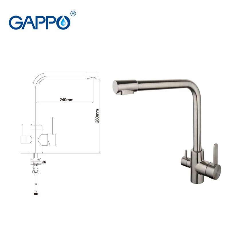 GAPPO küchen-mischbatterie küche wasserfilter wasserhahn 304 ...