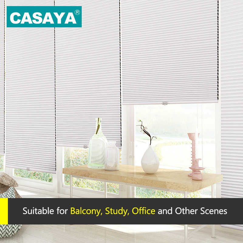 Customized Cordless Honeycomb Blinds Nonwoven Fabric Pull push Control Cellular Shade Half Shade /Full shade Honeycomb Blinds