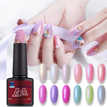 LULAA Shell Shiny Cat Eyes Nail Gel Colorful Pearl 3D Magnetic Glitter UV Soak Off Lacquer Polish Art
