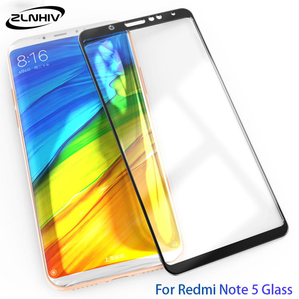 ZLNHIV <font><b>3D</b></font> tempered glass for <font><b>xiaomi</b></font> <font><b>redmi</b></font> note 5 pro plus 5A 4 <font><b>4X</b></font> S2 on glass smartphone phone screen protector protective film image
