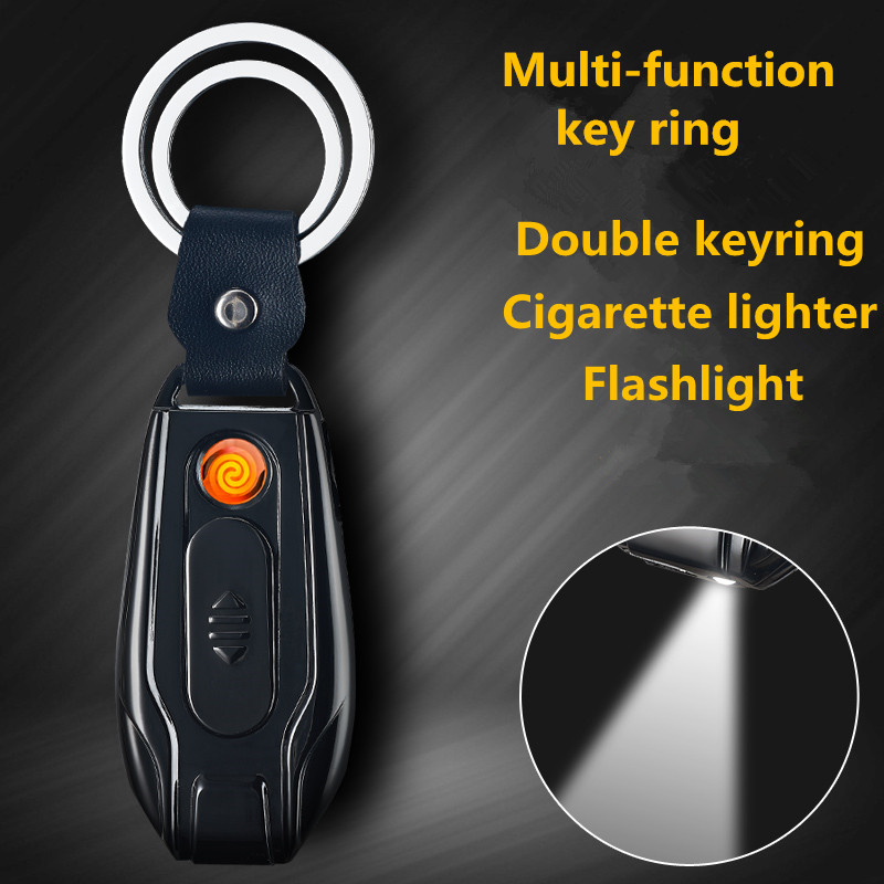 Top quality Multi-function key ring with Flashlight and Cigarette lighter keychain,car keychain runacc camouflage lighter flashlight cigarette lighter creative fire lighter for camping travelling and hiking
