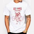 Hot Sale Fashion Pug Squat Exercise Hard Design Mne's Creative Printed T-shirt Short Sleeve Male Funny Tops Hipster Casual Tee