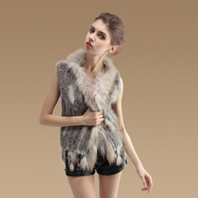 YCFUR Women Vest Jacket Winter Warm Real Fur Vest Coat with