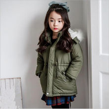 0180eafe7 2017 New Design Girls Autumn Winter Warm Coat Kids Jacket Fur Hooded ...