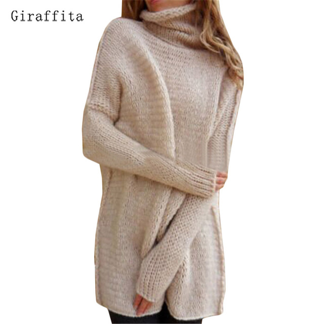 Aliexpress.com : Buy Giraffitanew Fashion Women Turtleneck Sweater ...
