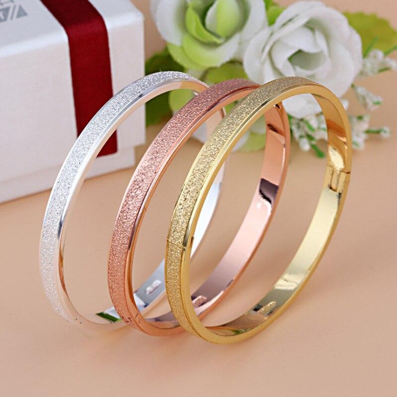 Bracelet classique en acier titane pour femme homme taille 16 et taille 19 bracelet CZ complet bijoux pas de sac à poussière, pas de boîte B15